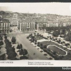 Postales: SANTANDER -211- PASEO Y JARDINES DE PEREDA - FOTOGRAFICA ROISIN - (47.594). Lote 83139172