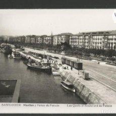 Postales: SANTANDER -131 - MUELLES Y PASEO DE PEREDA - FOTOGRAFICA ROISIN - (47.595). Lote 83139328