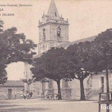 Postales: POSTAL ANTIGUA TORRELAVEGA ANTIGUA IGLESIA (PROPIEDAD DE LA LIBRERIA GENERAL, SANTANDER). Lote 84766544