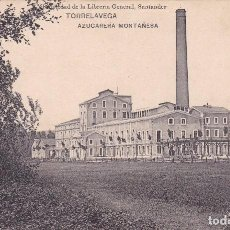 Postales: POSTAL ANTIGUA TORRELAVEGA AZUCARERA MONTAÑESA (PROPIEDAD DE LA LIBRERIA GENERAL, SANTANDER). Lote 84766884