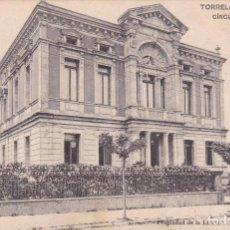 Postales: POSTAL ANTIGUA TORRELAVEGA CIRCULO DE RECREO (PROPIEDAD DE LA LIBRERIA GENERAL, SANTANDER). Lote 84767080