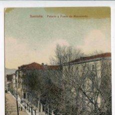 Postales: SANTOÑA. PALACIO Y PASEO DE MANZANEDO. SIN REFERENCIA DE EDITOR Nº 11920 AL DORSO. Lote 86398176