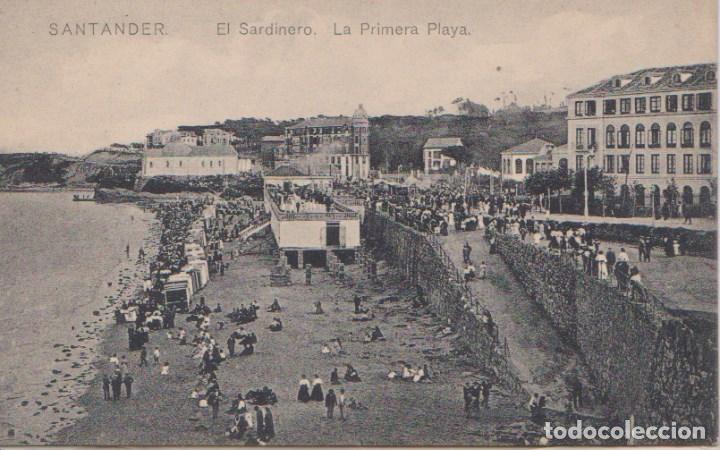 SANTANDER (CANTABRIA) - EL SARDINERO LA PRIMERA PLAYA (Postales - España - Cantabria Antigua (hasta 1.939))
