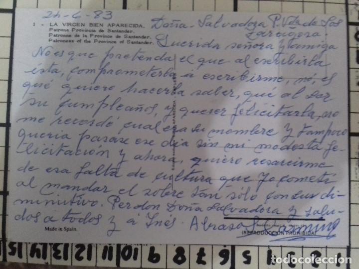 Postales: LA VIRGEN BIEN APARECIDA-PATRONA PROVINCIA SANTANDER-TARJETA POSTAL - Foto 2 - 86759196