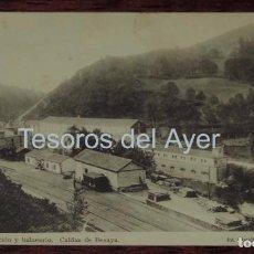 Postales: POSTAL DE ESTACION Y BALNEARIO DE CALDAS DE BESAYA, N.5, CANTABRIA, FOT. CLEUDIO, PROPIEDAD A. GUERR. Lote 87220888