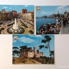 Postales: POSTALES DE SANTANDER CIRCULADAS . MUELLES, PALACIO REAL LA MAGDALENA , PLAZA DEL GENERALISIMO . Lote 87517488