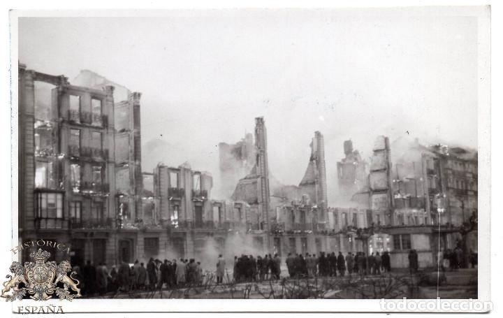 POSTAL FOTOGRAFICA DE SANTANDER - INCENDIO DEL 15 - FEBRERO - 1941 (Postales - España - Cantabria Moderna (desde 1.940))
