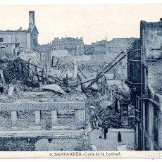 Postales: POSTAL DE SANTANDER - INCENDIO DEL 15 - FEBRERO - 1941 - CALLE DE LA LEALTAD. Lote 87541624