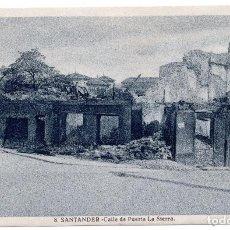 Postales: POSTAL DE SANTANDER - INCENDIO DEL 15 - FEBRERO - 1941 - CALLE DE PUERTA DE LA SIERRA. Lote 87541996