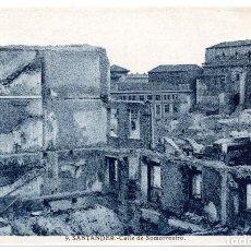 Postales: POSTAL DE SANTANDER - INCENDIO DEL 15 - FEBRERO - 1941 - CALLE DE SOMORROSTRO. Lote 87542080
