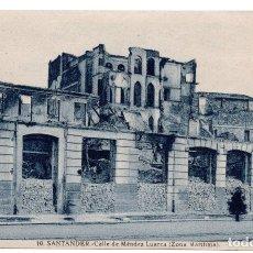 Postales: POSTAL DE SANTANDER - INCENDIO DEL 15 - FEBRERO - 1941 - CALLE DE MÉNDEZ LUARCA. Lote 87542252