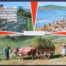 Postales: SANTANDER -BELLEZAS DE LA CIUDAD- CIRCULADA 1968 / P-827. Lote 95750067