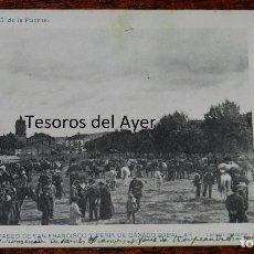 Postales: POSTAL DE REINOSA, CANTABRIA, N.9, PASEO SAN FRANCISCO FERIA CABALLAR, ED. G.DE LA PUENTE, FOT. LACO. Lote 96208655