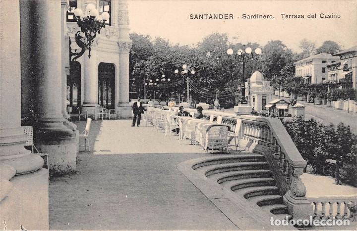SANTANDER.- SARDINERO.-TERRAZA DEL CASINO (Postales - España - Cantabria Antigua (hasta 1.939))