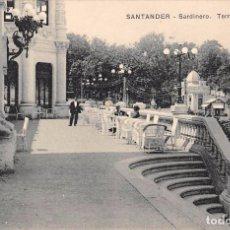 Postales: SANTANDER.- SARDINERO.-TERRAZA DEL CASINO. Lote 96496183