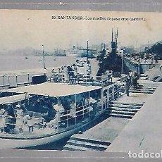 Postales: TARJETA POSTAL DE SANTANDER, CANTABRIA - LOS MUELLES DE PASAJEROS. PARCIAL. 10. Lote 96735691