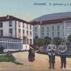 Postales: ONTANEDA (CANTABRIA) - EL BALNEARIO Y EL GRAN HOTEL. Lote 96806815