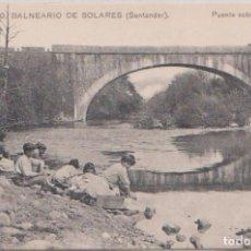 Postales: SLARES (CANTABRIA) - BALNEARIO - PUENTE SOBRE EL RIO MIERA. Lote 97095275