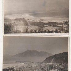 Postales: DOS FOTOGRAFÍAS DE LAREDO. CANTABRIA. 10,50 X 6,50 CM CADA UNA. NO FIGURA FOTÓGRAFO.. Lote 97271983