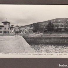 Postales: CASTRO URDIALES (CANTABRIA).- RESIDENCIA PEDRO VELARDE (PALACIO A LA DERECHA). Lote 97550703