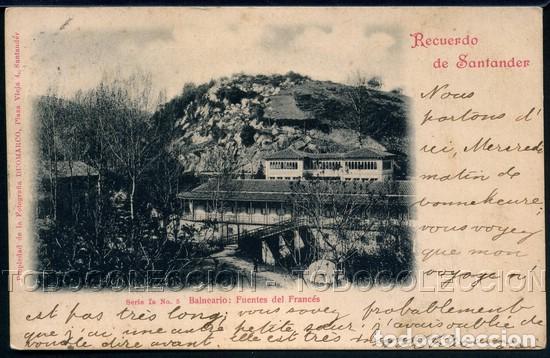 POSTAL RECUERDO DE SANTANDER BALNEARIO FUENTES DEL FRANCES . DUOMARCO CA AÑO 1900 O ANTERIOR. (Postales - España - Cantabria Antigua (hasta 1.939))