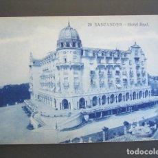 Postales: POSTAL SANTANDER. HOTEL REAL. . Lote 99427423