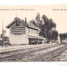 Postales: POSTAL SANTANDER - ESTACIÓN FERROCARRIL - BALNEARIO DE SOLARES. Lote 99818939