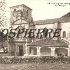 Postales: FOTO-POSTAL, LIMPIAS-CANTABRIA, IGLESIA PARROQUIAL, FOTO MARUGÁN, SIN CIRCULAR. Lote 99999227