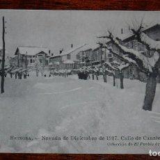 Postales: POSTAL DE REINOSA. CANTABRIA, NEVADA DICIEMBRE DE 1917. CALLE CANALEJAS, COLECCIÓN EL PUEBLO DE CAMP. Lote 100701203