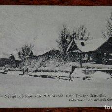 Postales: POSTAL DE REINOSA. CANTABRIA, NEVADA DE ENERO DE 1918. AVENIDA DEL DOCTOR CANTOLLA, COLECCIÓN EL PUE. Lote 100701579