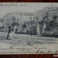 Postales: POSTAL DEL SARDINERO, SANTANDER, HOTELES CASTILLA, II SERIE NUM.4, PROPIEDAD DE R. PACHECO, CIRCULAD. Lote 100739547