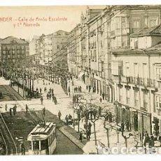 Postales: SANTANDER CALLE DE AMÓS ESCALANTE Y 1ª ALAMEDA. ED. J. PALACIOS. SIN CIRCULAR. Lote 100759975