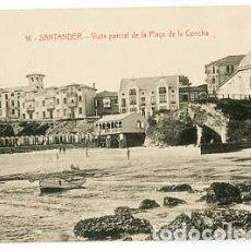 Postales: SANTANDER VISTA PARCIAL DE LA PLAYA DE LA CONCHA ED. J. PALACIOS. SIN CIRCULAR. Lote 100760019