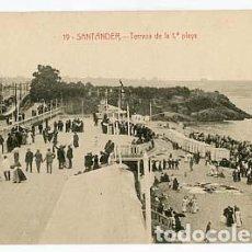 Postales: SANTANDER TERRAZA DE LA 1ª PLAYA ED. J. PALACIOS. SIN CIRCULAR. Lote 100760055