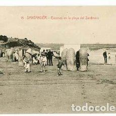 Postales: SANTANDER ESCENAS EN LA PLAYA DEL SARDINERO ED. J. PALACIOS. SIN CIRCULAR. Lote 100760099