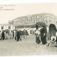 Postales: SANTANDER SARDINERO PLAYA Y GRAN HOTEL ED LIBRERIA VIUDA DE ALBIRA. FOTOTIPIA HAUSER Y MENET. Lote 101039895