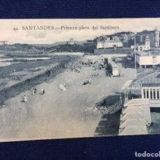Postales: POSTAL 44 SANTANDER PRIMERA PLAYA DEL SARDINERO 1924 CIRCULADA INSCRITA ED LA IDEAL. Lote 101153015