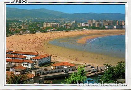 LAREDO (CANTABRIA) Nº 83 EL PUERTO Y PLAYA SALVE - ED ARRIBAS - SIN CIRCULAR - AÑO 1991 (Postales - España - Cantabria Moderna (desde 1.940))