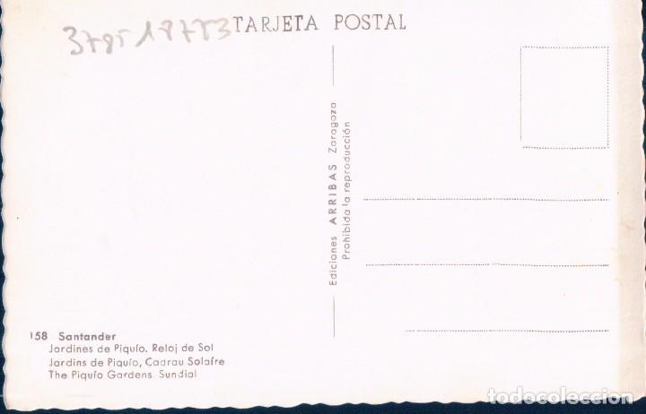 Postales: POSTAL SANTANDER - JARDINES DE PIQUIO - RELOJ DE SOL - 158 ARRIBAS - Foto 2 - 103223435
