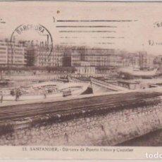 Postales: SANTANDER (CANTABRIA) - DARSENA DE PUERTO CHICO Y CASTELAR. Lote 103225363