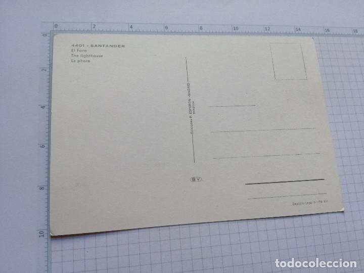 Postales: POSTAL Nº 4401 - CANTABRIA - SANTANDER, EL FARO - ED. ESPERON 1965 - Foto 2 - 104094835