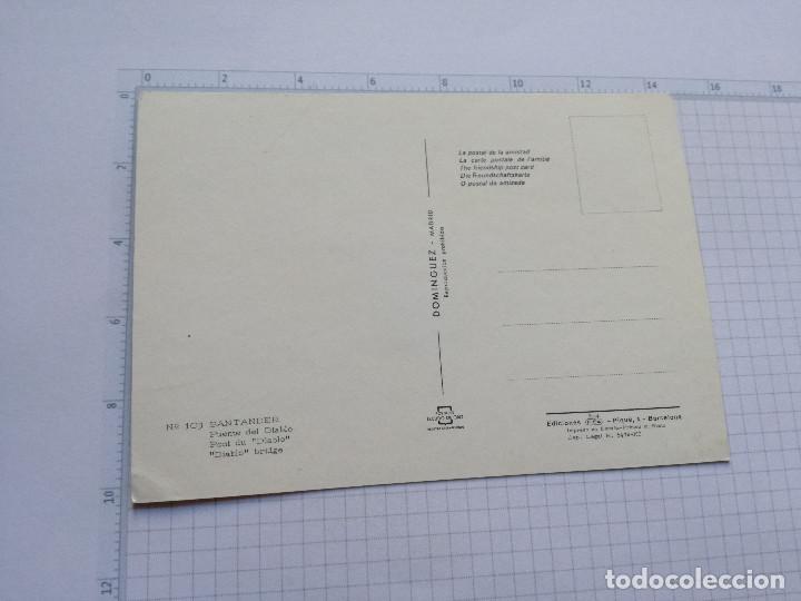 Postales: POSTAL Nº 103 - CANTABRIA - SANTANDER, PUENTE DEL DIABLO - ED. FISA 1969 - Foto 2 - 104095083