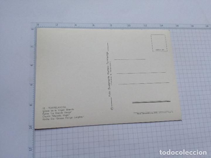Postales: POSTAL Nº 12 - CANTABRIA - TORRELAVEGA, IGLESIA VIRGEN GRANDE - ED. BUSTAMANTE 1965 - Foto 2 - 104096479