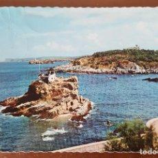 Postales: POSTAL SANTANDER. N° 207 EL SARDINERO. ENSENADA DEL CAMELLO. CIRCULADA 1960. Lote 105585159