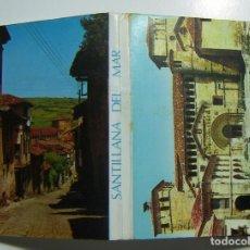 Postales: SANTILLANA DEL MAR 10 POSTALES EN ACORDEON EDICIONES ALARDE 1972. Lote 105744883
