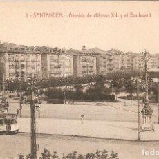 Postales: SANTANDER Nº 3 AVDA. DE ALFONSO XIII Y BULEVARD PALACIOS. Lote 105884475