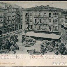 Postales: POSTAL SANTANDER PLAZA DEL PESO . ROMMLER & JONAS 16710 A 12 . CA AÑO 1900 .. Lote 105996187