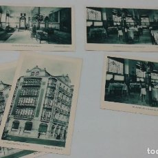 Postales: SENSACIONAL LOTE 4 POSTALES (MÁS UNA REPETIDA) DEL HOTEL MÉXICO DE SANTANDER.. Lote 105997579