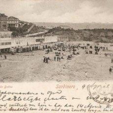 Postales: SANTANDER 1600 PLAYA DE BAÑOS CIRCULADA EL 9-4-1905. Lote 108016331
