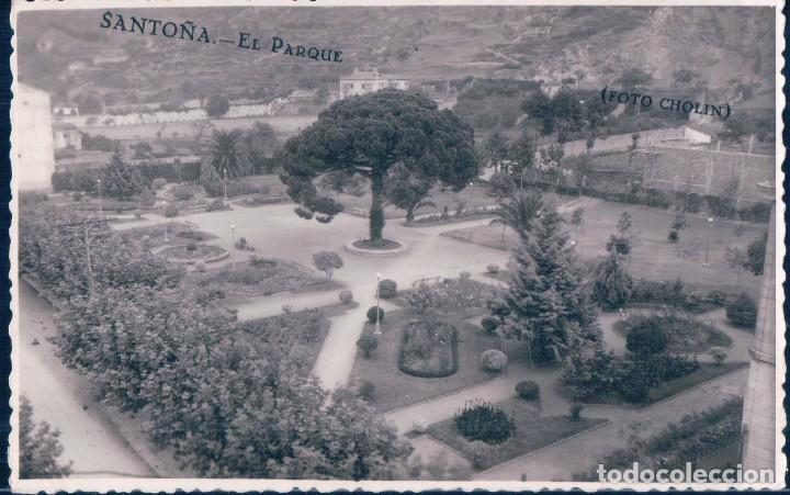 POSTAL FOTOGRAFICA DE SANTOÑA - EL PARQUE - FOTO CHOLIN (Postales - España - Cantabria Antigua (hasta 1.939))